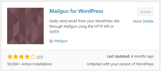 Mailgun for WordPress