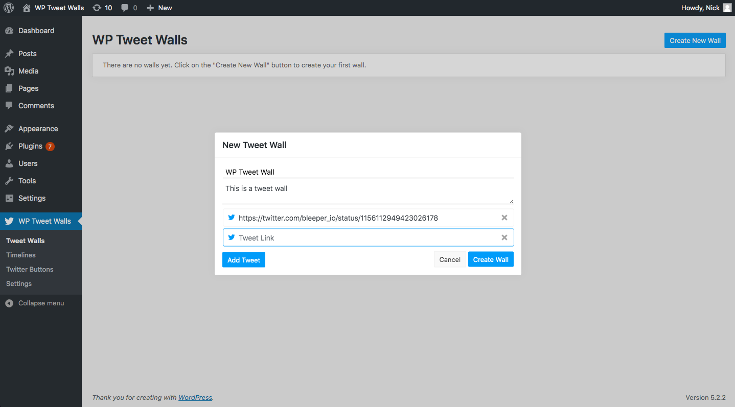 Create and Manage Tweet Walls